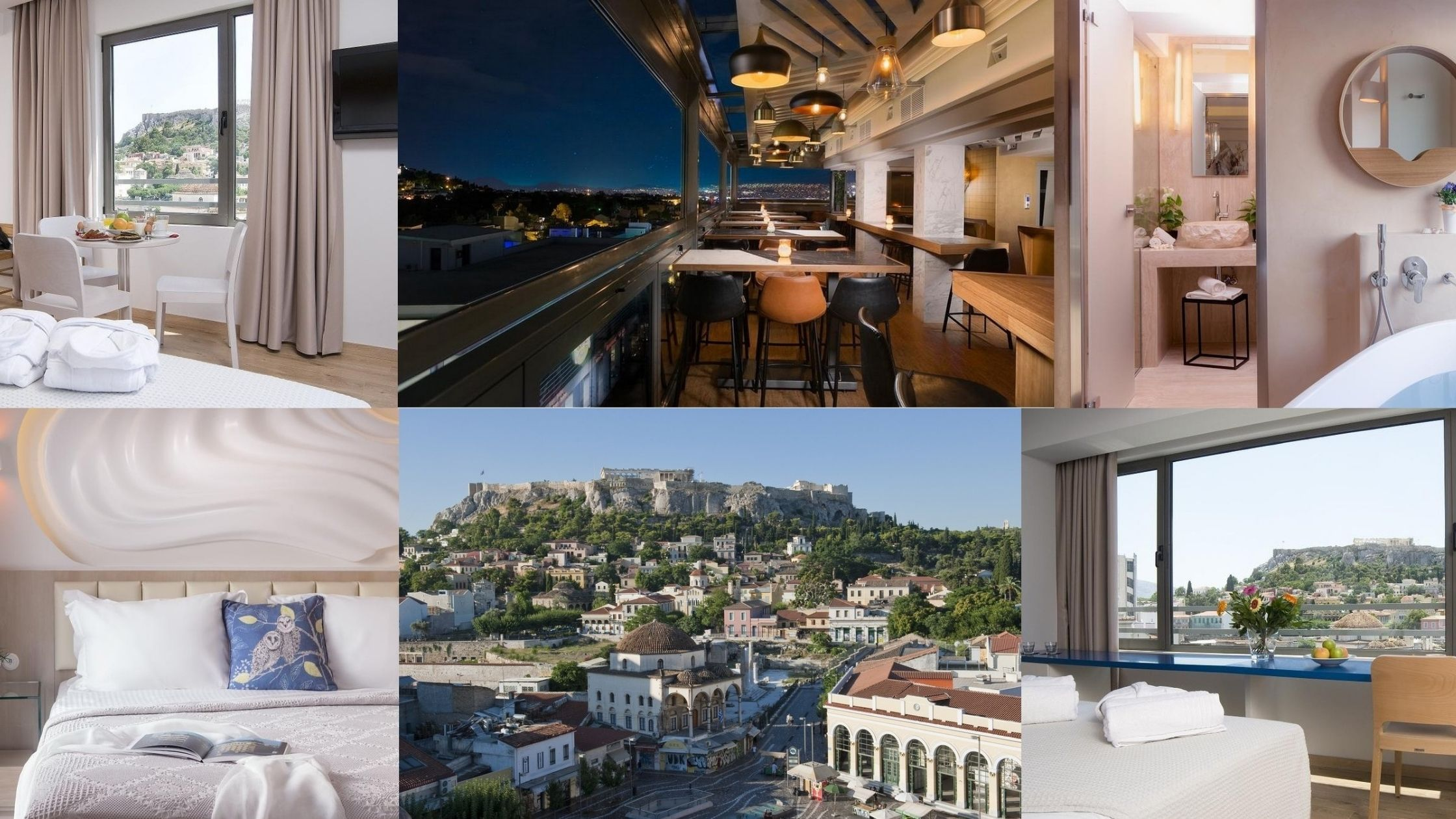 Athens accommodation collage