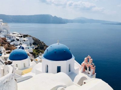 Santorini church in Greece