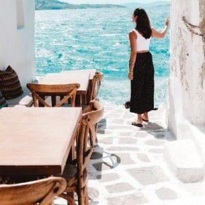 girl in mykonos island
