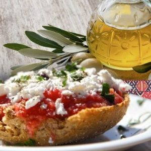 Greek bread with olive oil