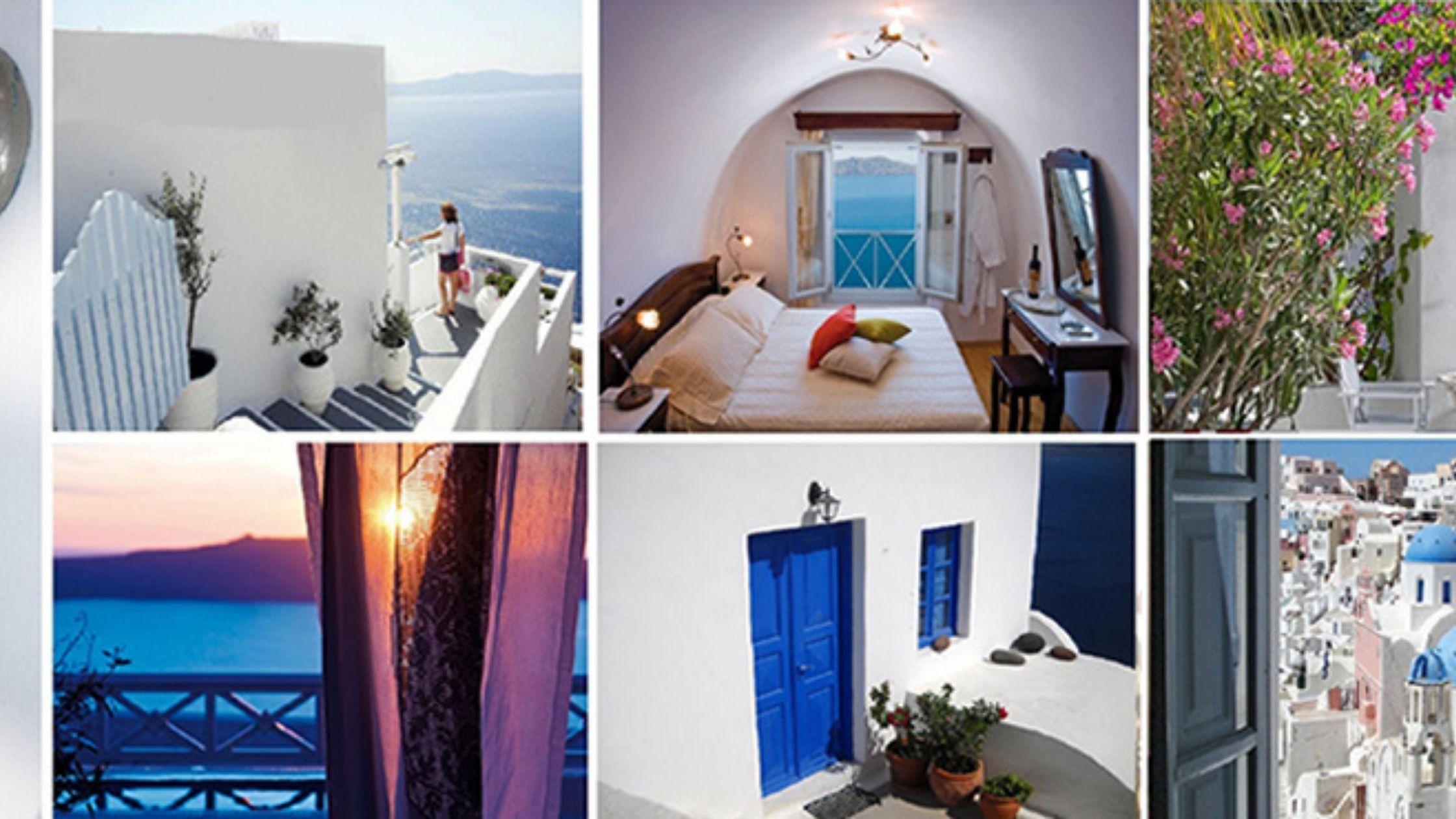 santorini hotel collage