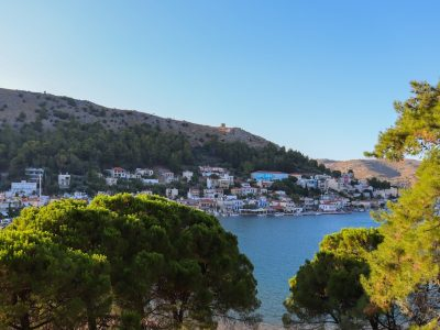 chios island with green in Greece